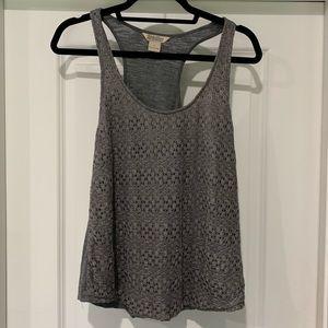 Lucky brand silver/gray shimmery sleeveless top